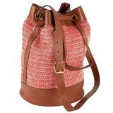 Raffia and leather bag
