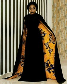 Ankara cape dress